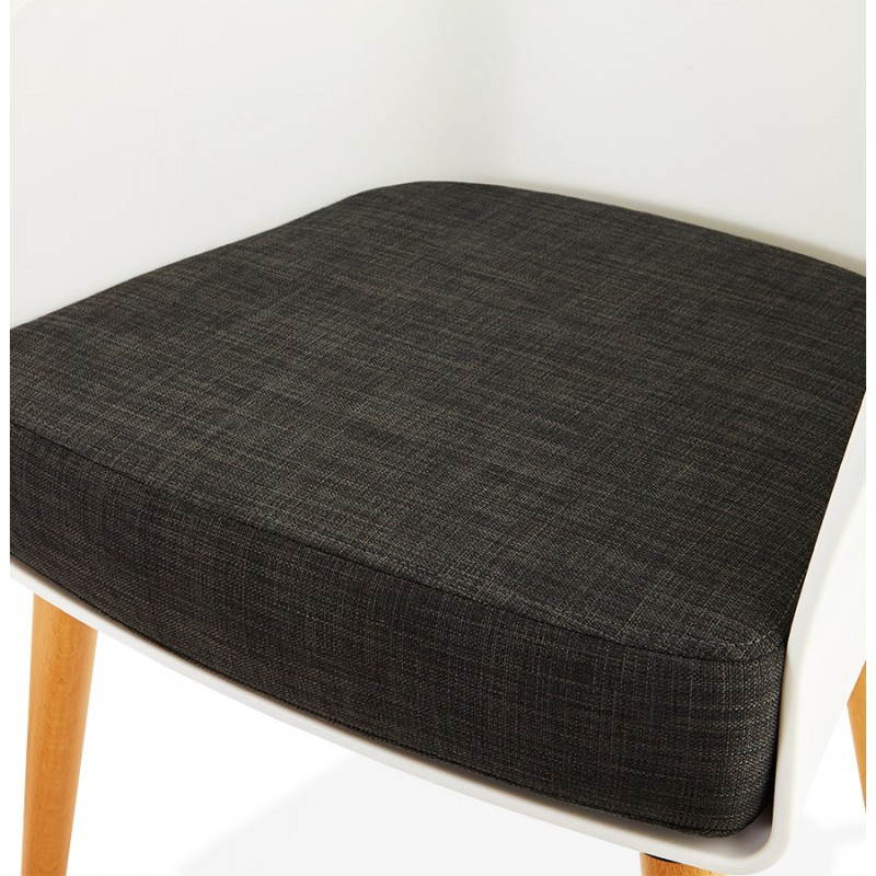 Fauteuil MAXIME en textile style scandinave (gris foncé) - image 22275