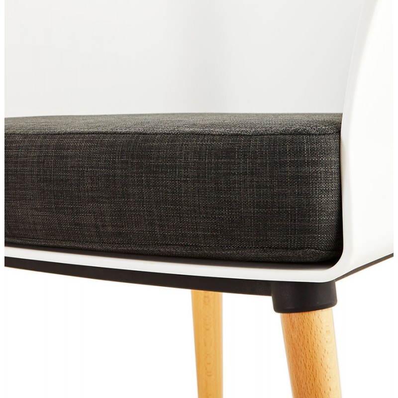 Fauteuil MAXIME en textile style scandinave (gris foncé) - image 22277