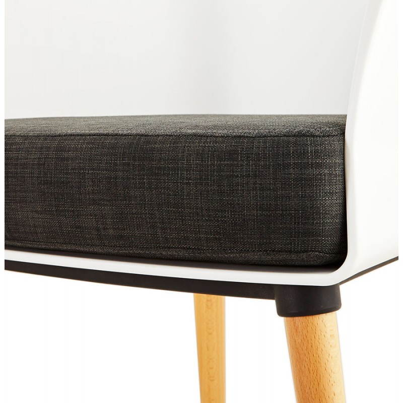 Textile armchair MAXIME style Scandinavian (dark grey) - image 22277