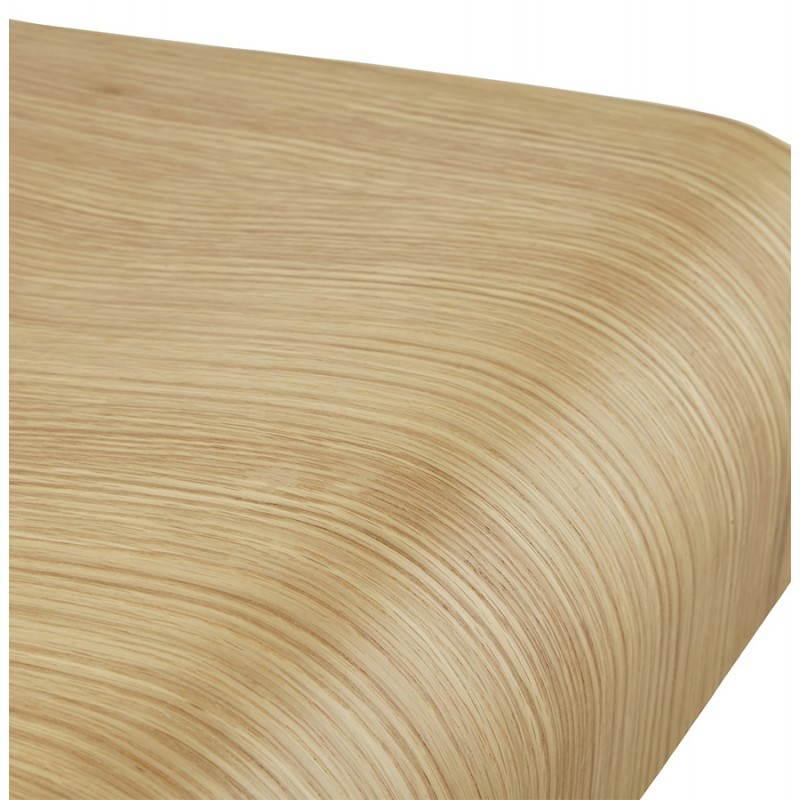Tabouret de bar design FOURS en bois (naturel) - image 22309