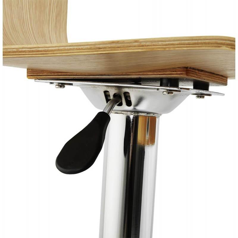 Tabouret de bar design FOURS en bois (naturel) - image 22311