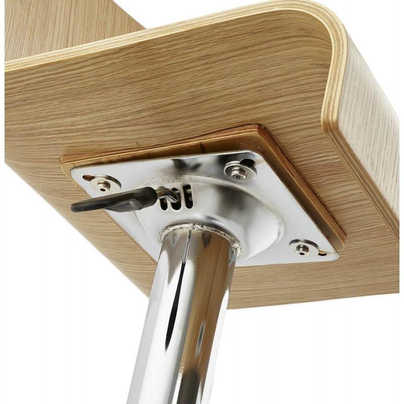 Tabouret de bar design FOURS en bois (naturel) - image 22312