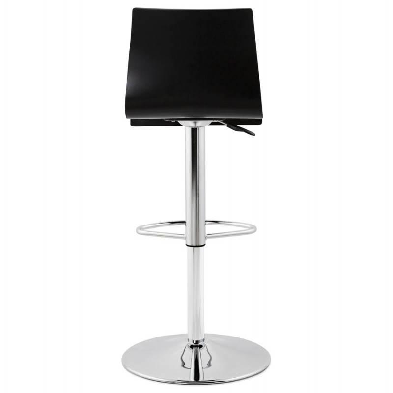tabouret de bar design venise en bois noir. Black Bedroom Furniture Sets. Home Design Ideas