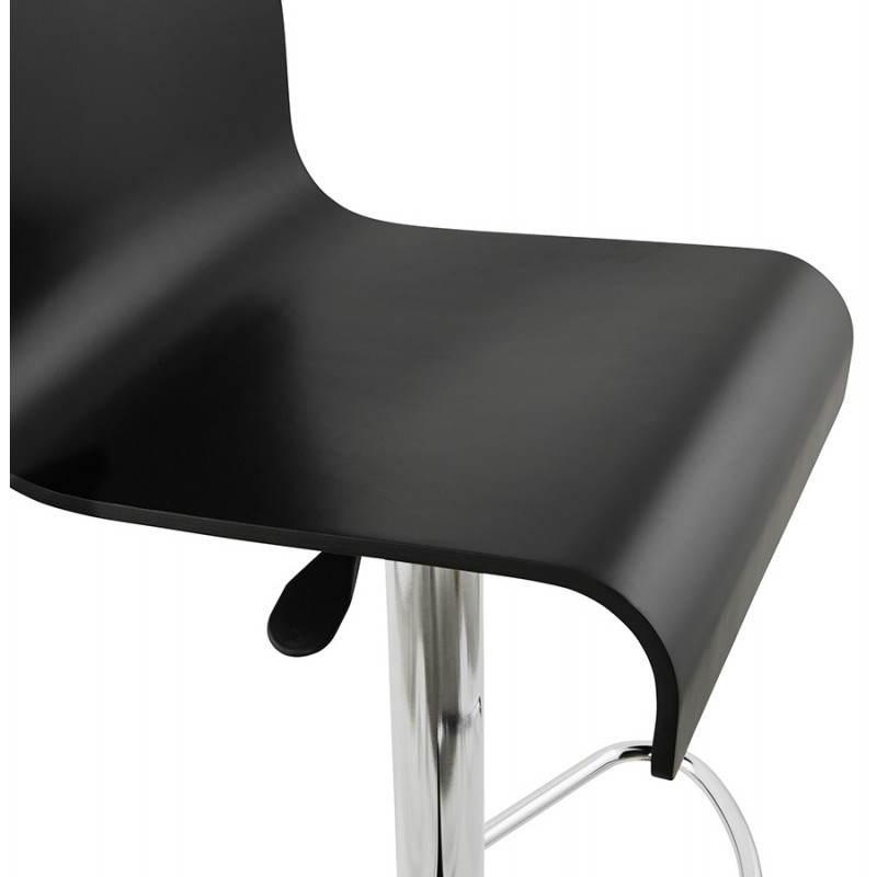 Tabouret de bar design VENISE en bois (noir) - image 22340