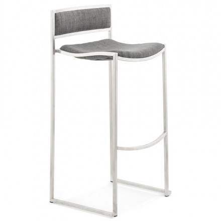 SICILY (grey) textile design bar stool