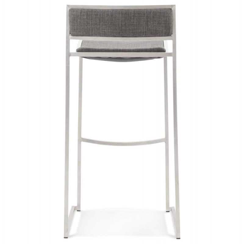 Tabouret de bar design SICILE en textile (gris) - image 22369