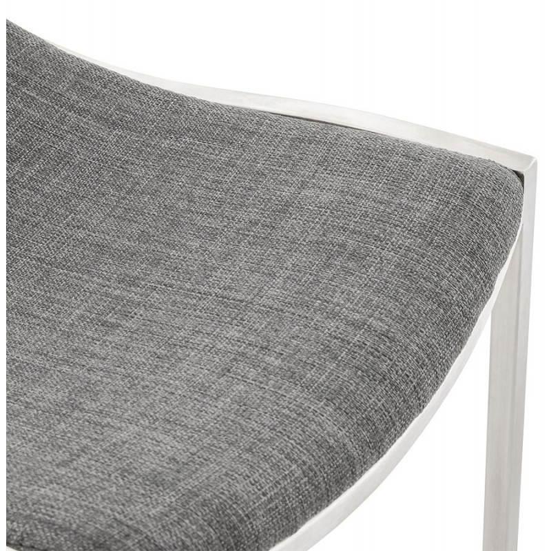 Tabouret de bar design SICILE en textile (gris) - image 22372