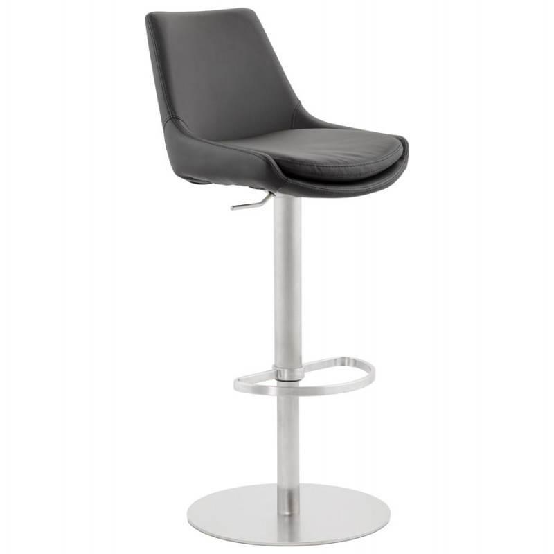 AMBRE rotating and adjustable design bar stool (black)