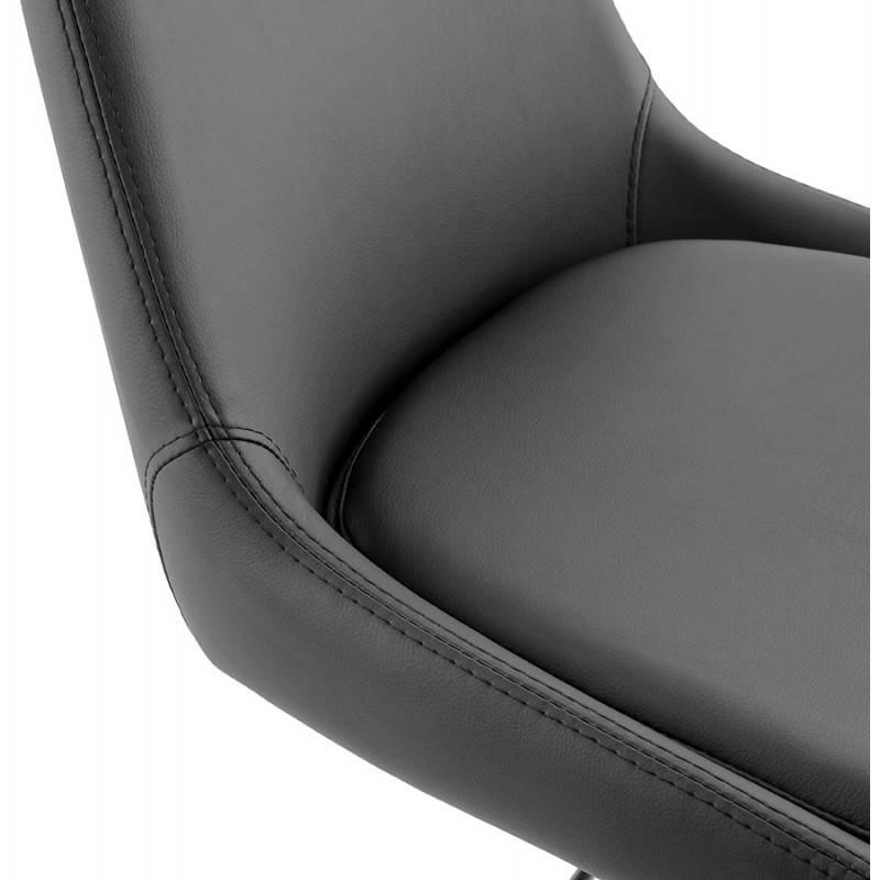 Diseño taburete de la barra de AMBER giratorio y ajustable (negro) - image 22386