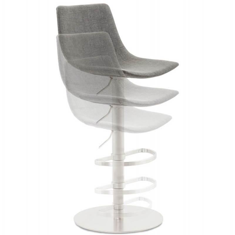 Tabouret de bar design BOLOGNE en textile (gris) - image 22398
