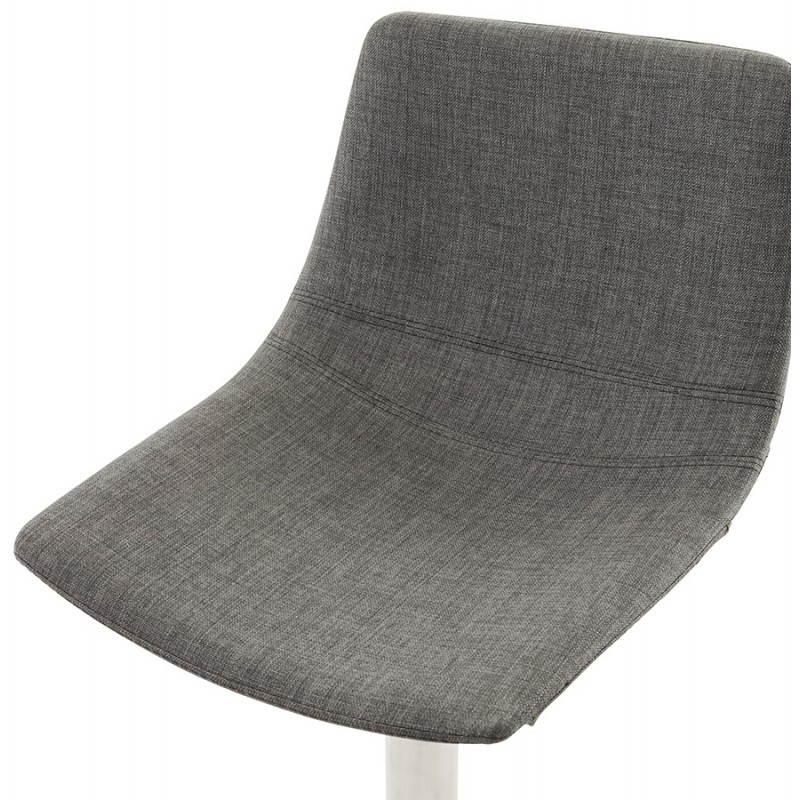 Tabouret de bar design BOLOGNE en textile (gris) - image 22400