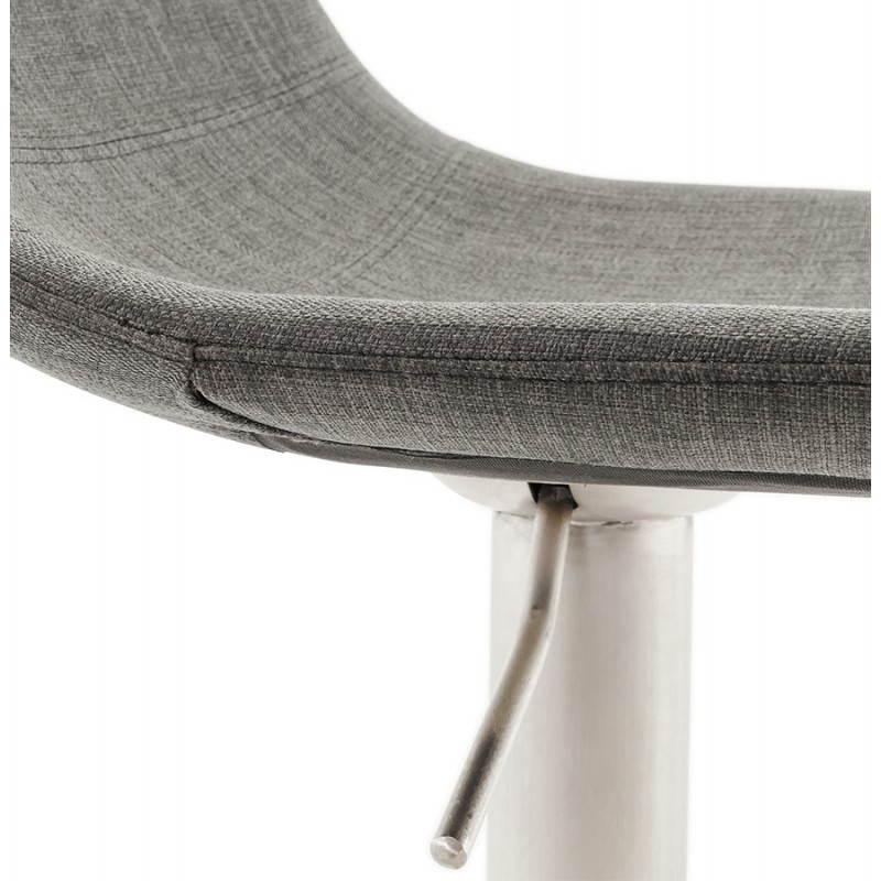 Tabouret de bar design BOLOGNE en textile (gris) - image 22402