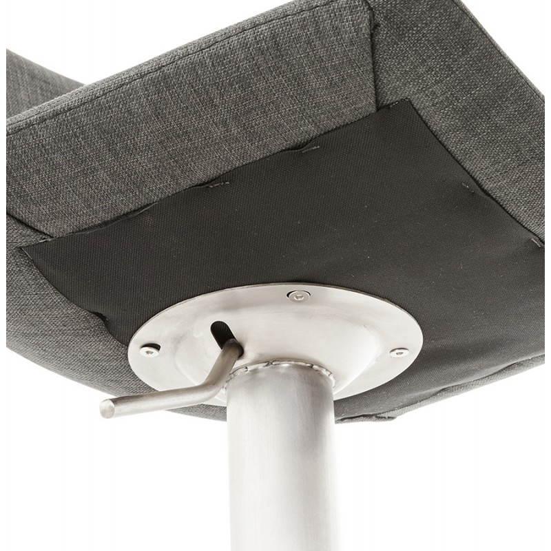 Tabouret de bar design BOLOGNE en textile (gris) - image 22405