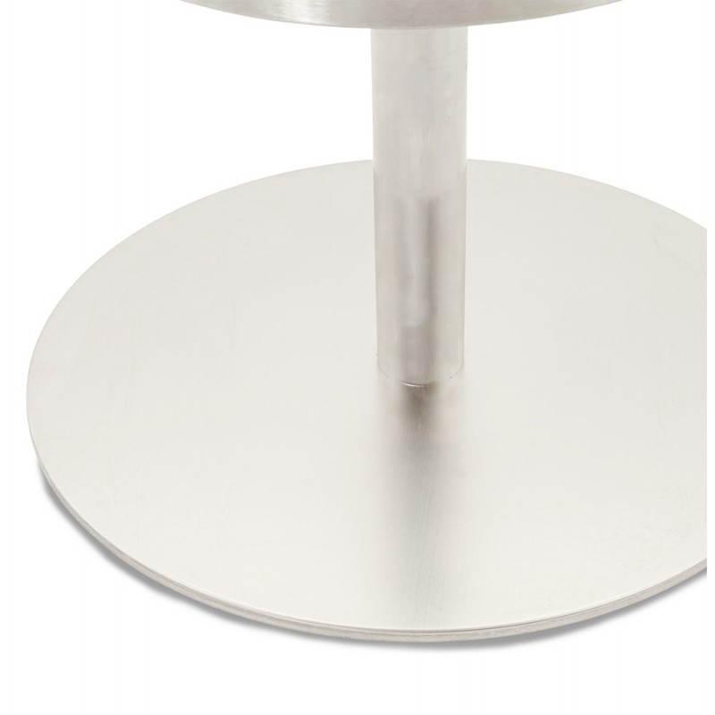 Tabouret de bar design BOLOGNE en textile (gris) - image 22407