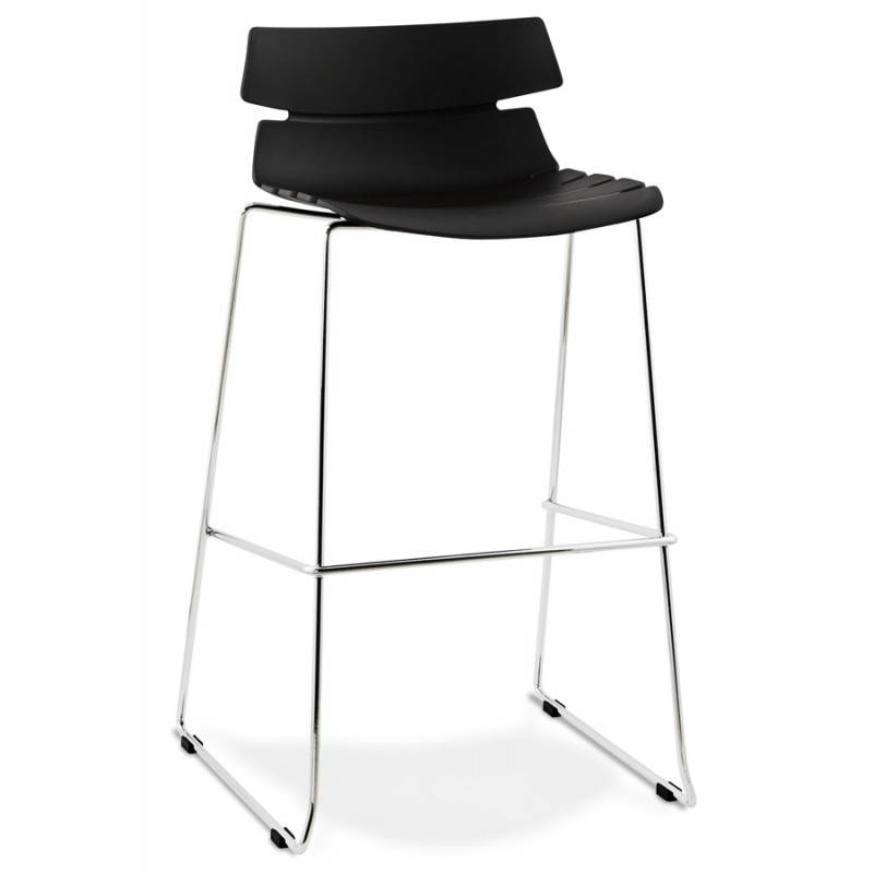 BRIO design bar (black) polypropylene stool