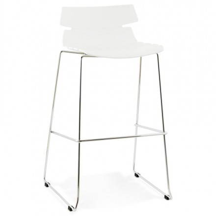 Design bar BRIO (white) polypropylene stool
