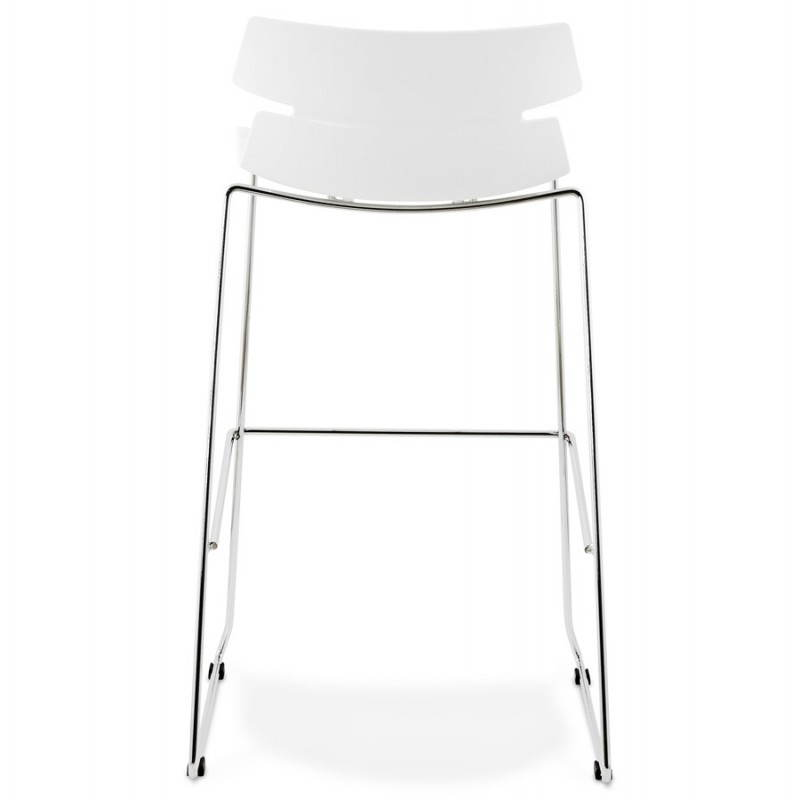 tabouret de bar design brio en polypropyl ne blanc. Black Bedroom Furniture Sets. Home Design Ideas