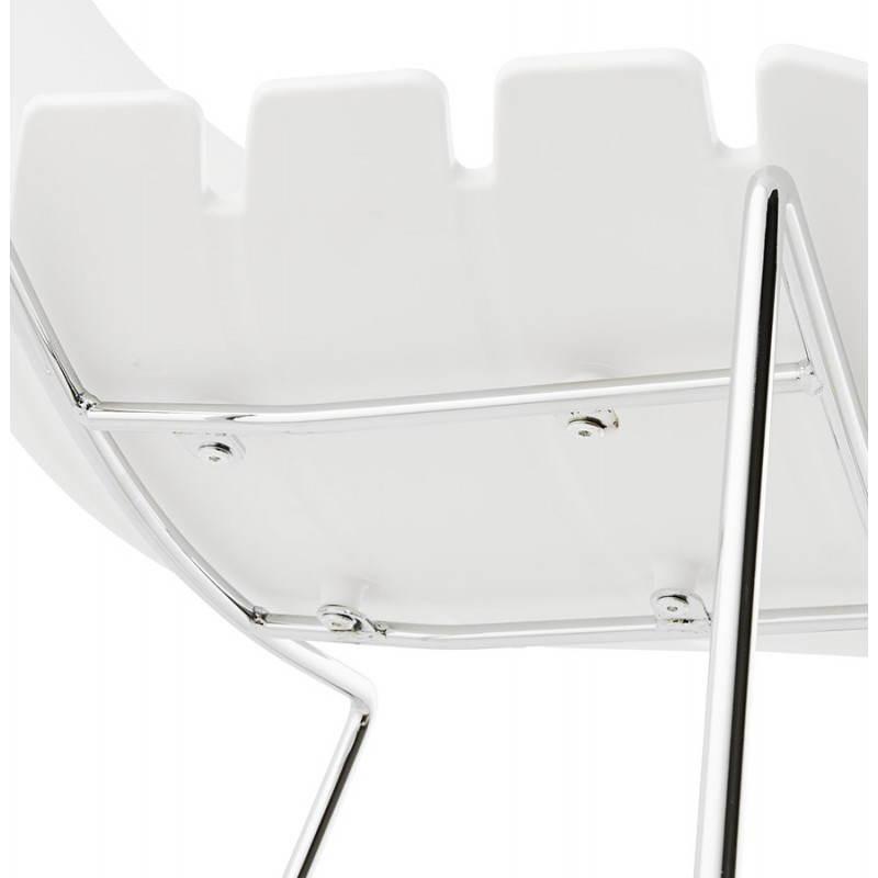 Design bar BRIO (white) polypropylene stool - image 22449