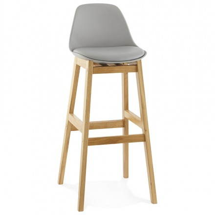 Design bar stool FLORENCE (gray)