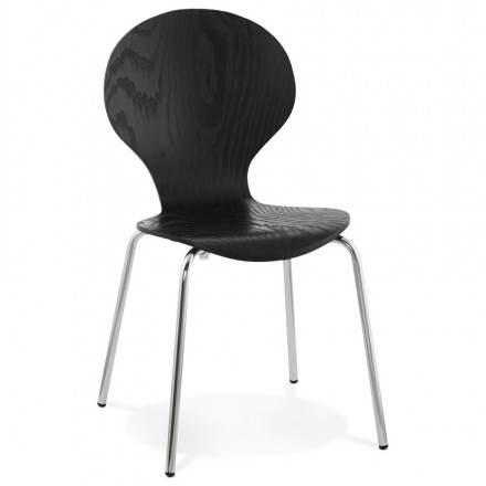 Chaise polyvalente CATANE en bois (noir)