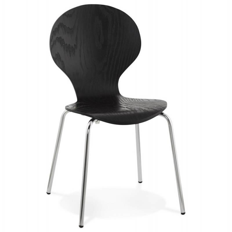 Chaise polyvalente CATANE en bois (noir) - image 22478