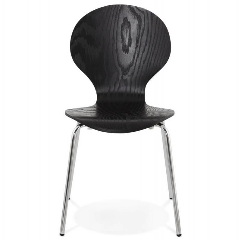 chaise polyvalente catane en bois noir. Black Bedroom Furniture Sets. Home Design Ideas