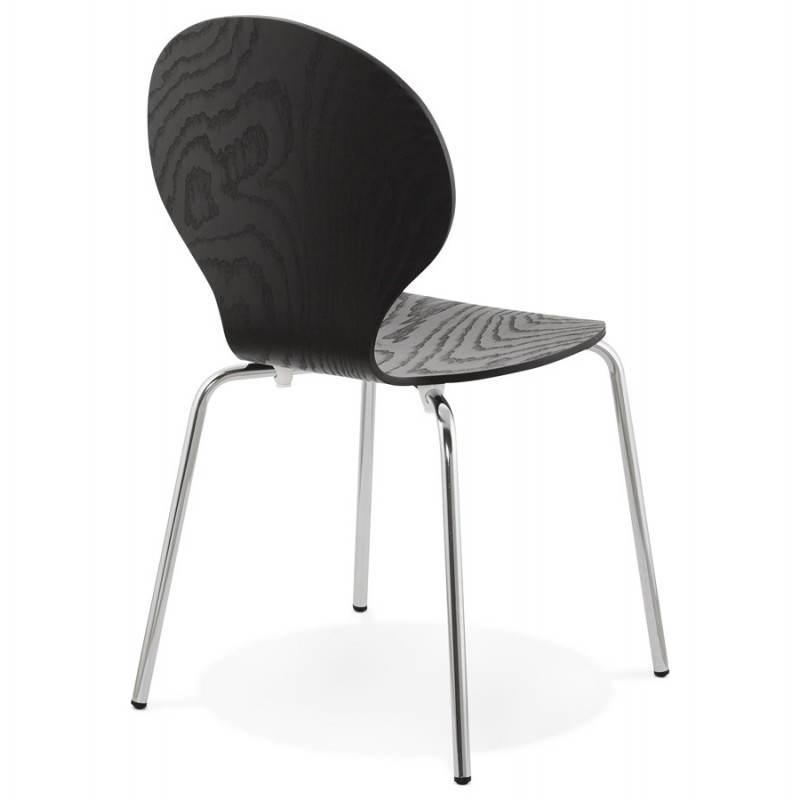 Chaise polyvalente CATANE en bois (noir) - image 22481