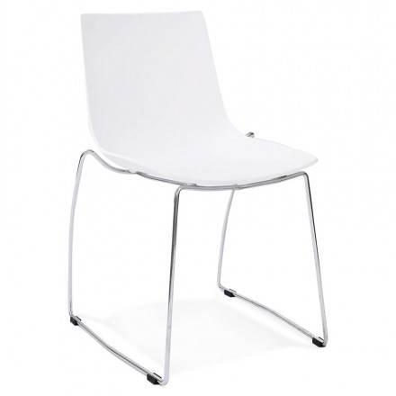 Diseño de silla y moderno Nápoles (blanco)