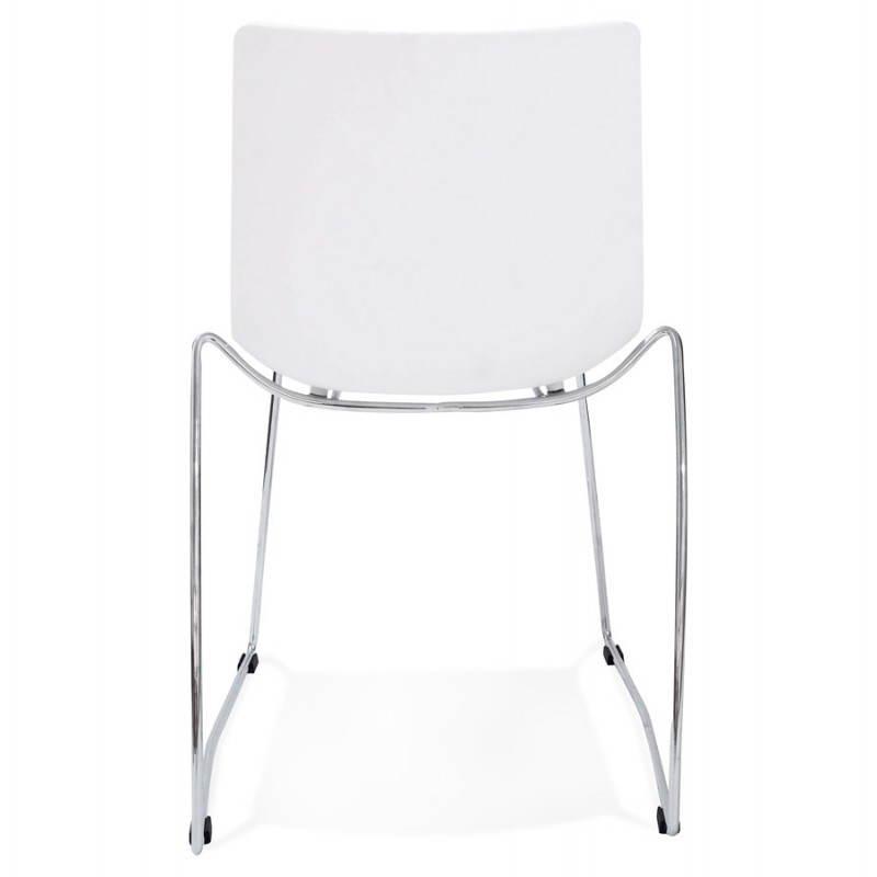 Chaise design et moderne NAPLES (blanc) - image 22609
