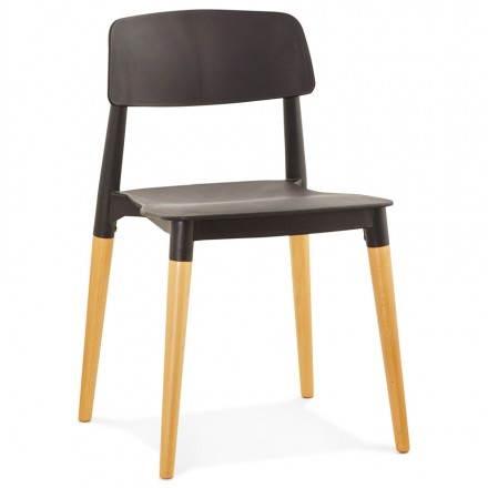 Stuhl Designstil skandinavischen ASTI (schwarz)