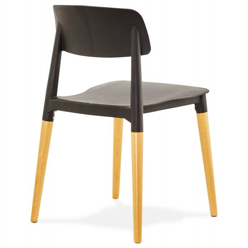 Chaise design style scandinave ASTI  (noir) - image 22621