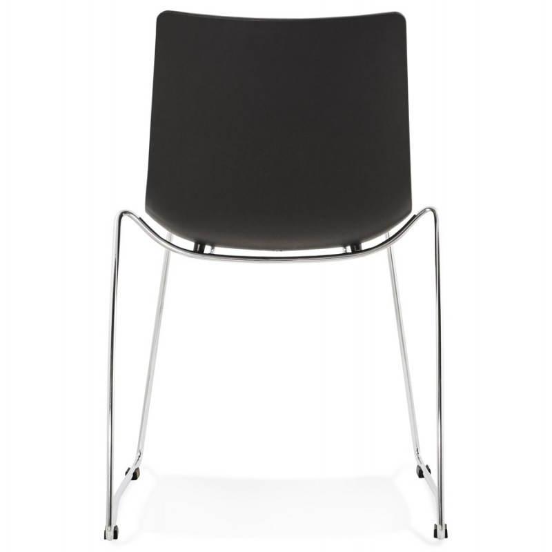 Chaise design et moderne NAPLES (noir) - image 22703