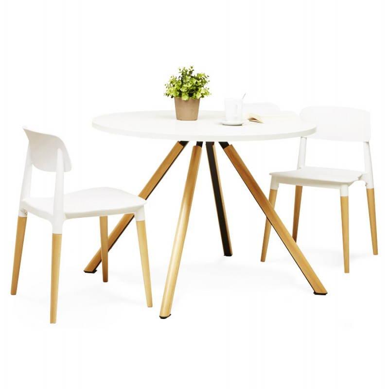 Chaise design style scandinave ASTI (blanc) - image 22746
