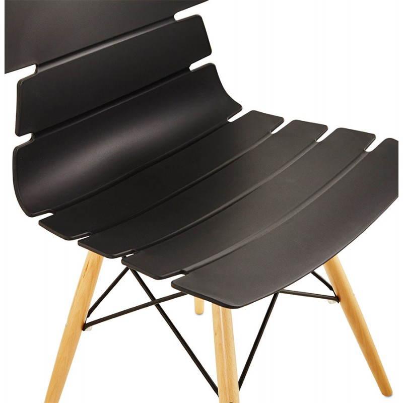 Chaise originale style scandinave CONY (noir) - image 22752