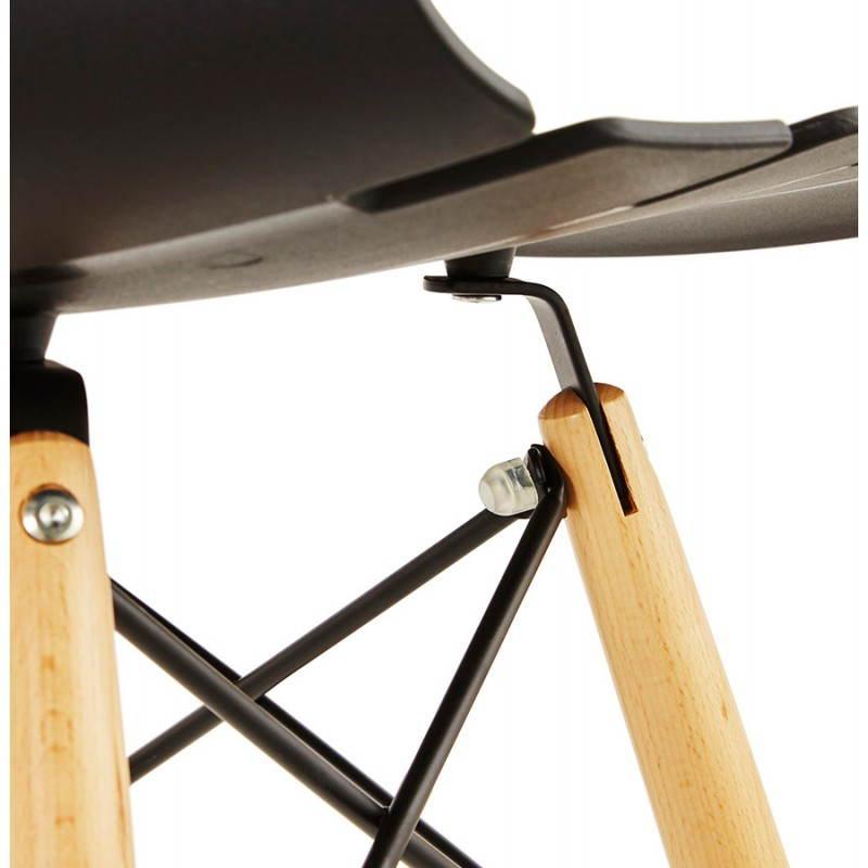 Chaise originale style scandinave CONY (noir) - image 22755