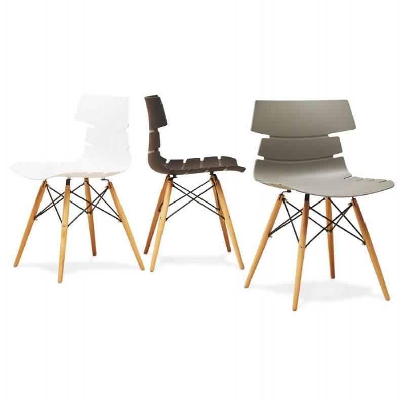 Chaise originale style scandinave cony noir for Chaise originale