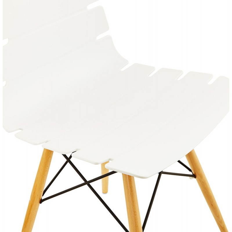 Chaise originale style scandinave CONY (blanc) - image 22768