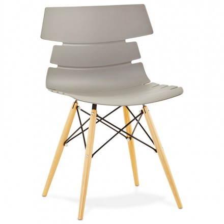Estilo de silla original escandinavo CONY (gris)