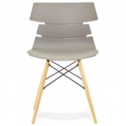 chaise originale style scandinave cony gris. Black Bedroom Furniture Sets. Home Design Ideas