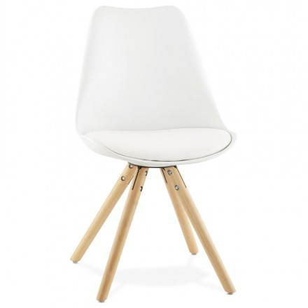 Modern Chair style Scandinavian NORDICA (white)