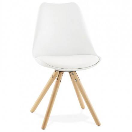 Estilo moderno de la silla NORDICA escandinava (blanco)