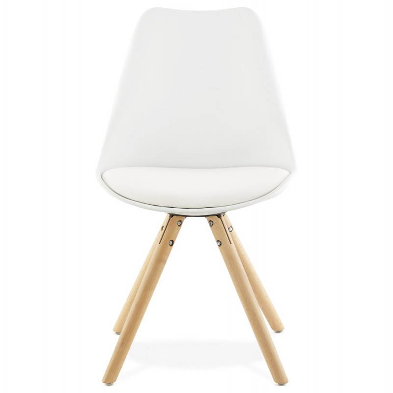 Chaise moderne style scandinave nordica blanc - Chaise style scandinave ...