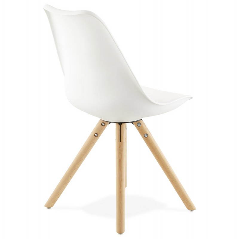 Chaise moderne style scandinave NORDICA (blanc) - image 22796