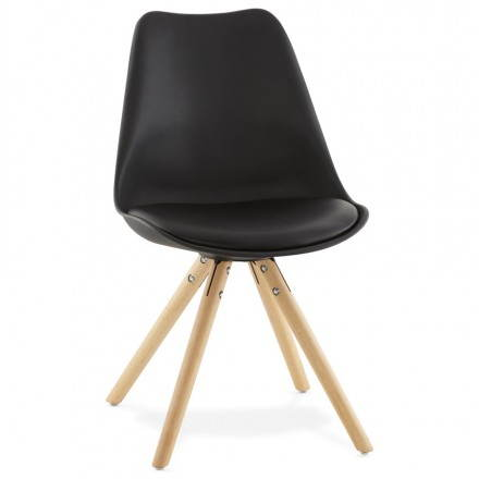 Modern Chair style Scandinavian NORDICA (black)