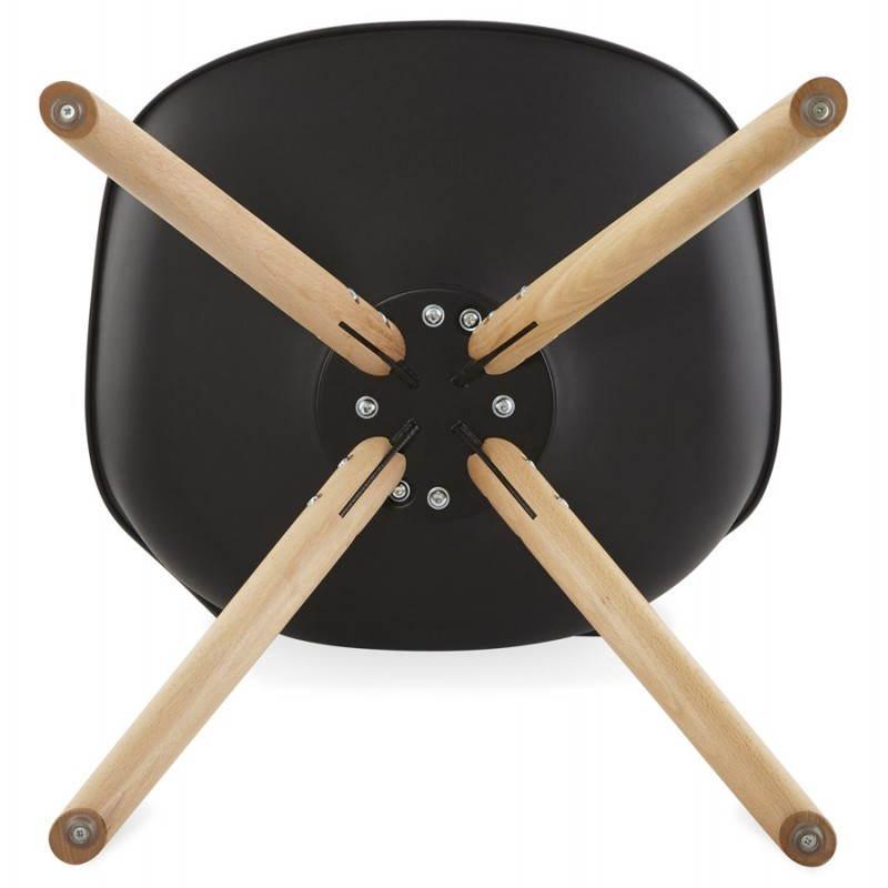 Estilo moderno de la silla NORDICA escandinava (negro) - image 22819