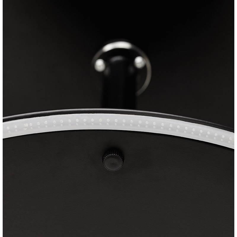 Table design ronde MILAN en verre et métal (Ø 100 cm) (noir) - image 22892