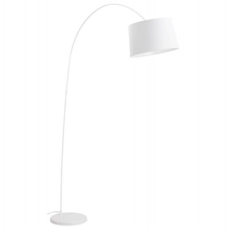 Lampe sur pied design AVERSA tissu (blanc) - image 22900