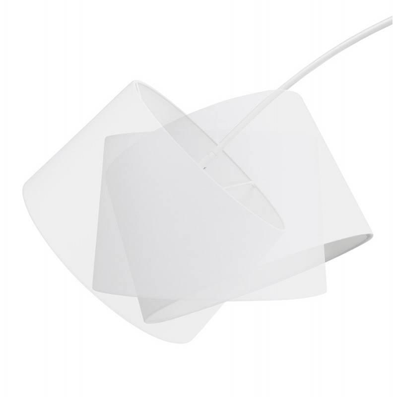 Lampe sur pied design AVERSA tissu (blanc) - image 22902