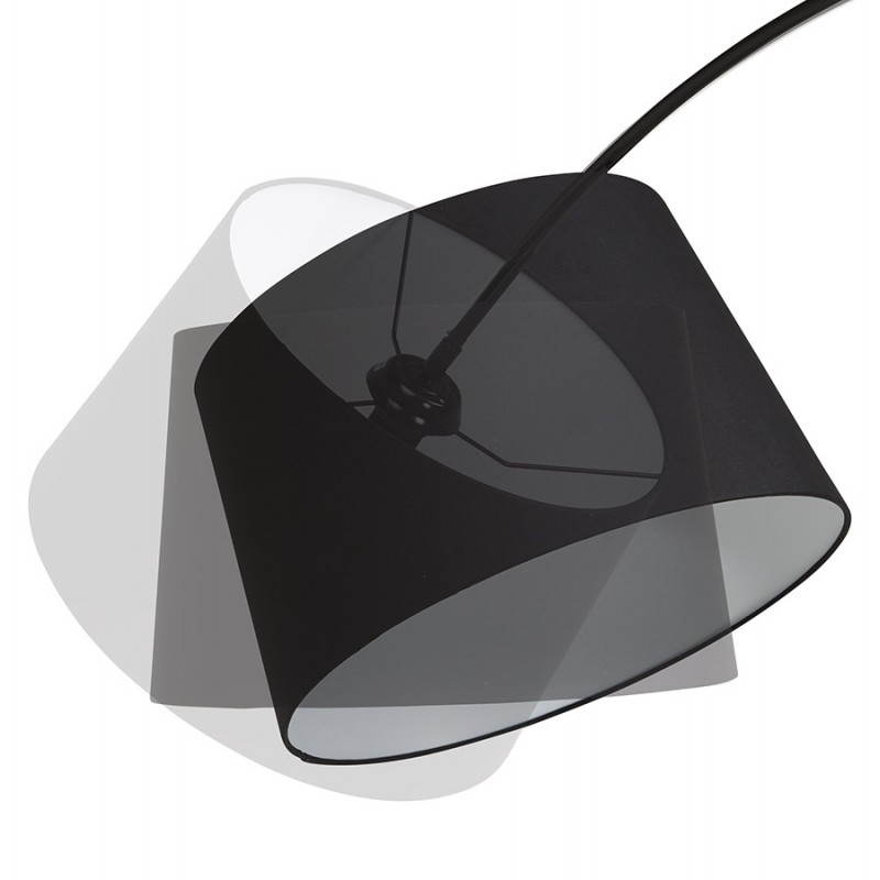Lampada design tessuto AVERSA (nero) del piede - image 23015
