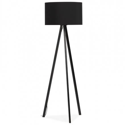 Scandinavian style TRANI (black) fabric floor lamp